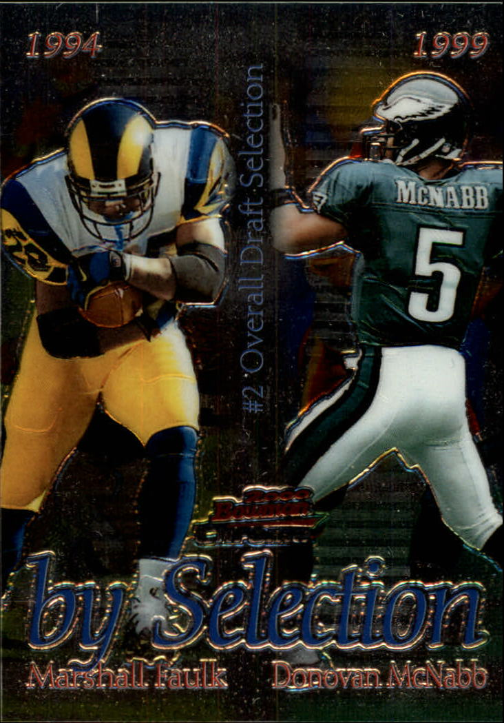 2000 Bowman Chrome By Selection #B2 M.Faulk/D.McNabb