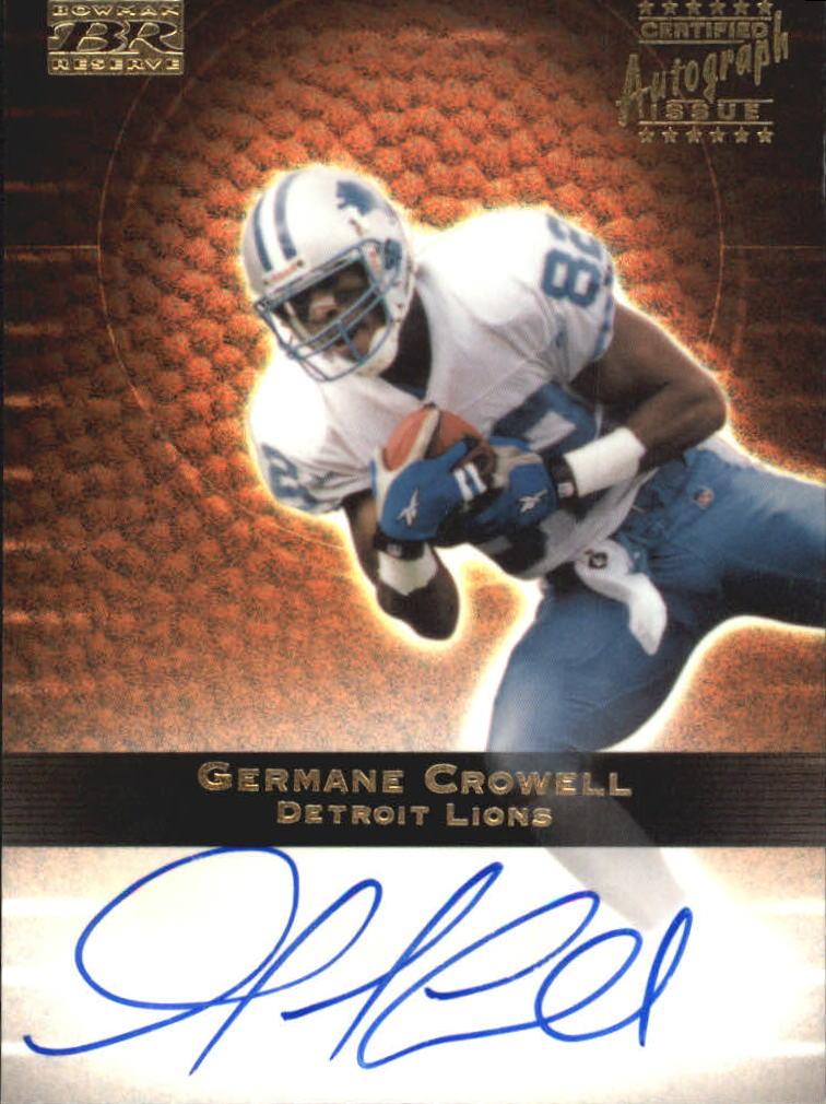 2000 Bowman Reserve Autographs #GC Germane Crowell