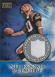 2000 Bowman Reserve Rookie Premier Jerseys #RPW Peter Warrick