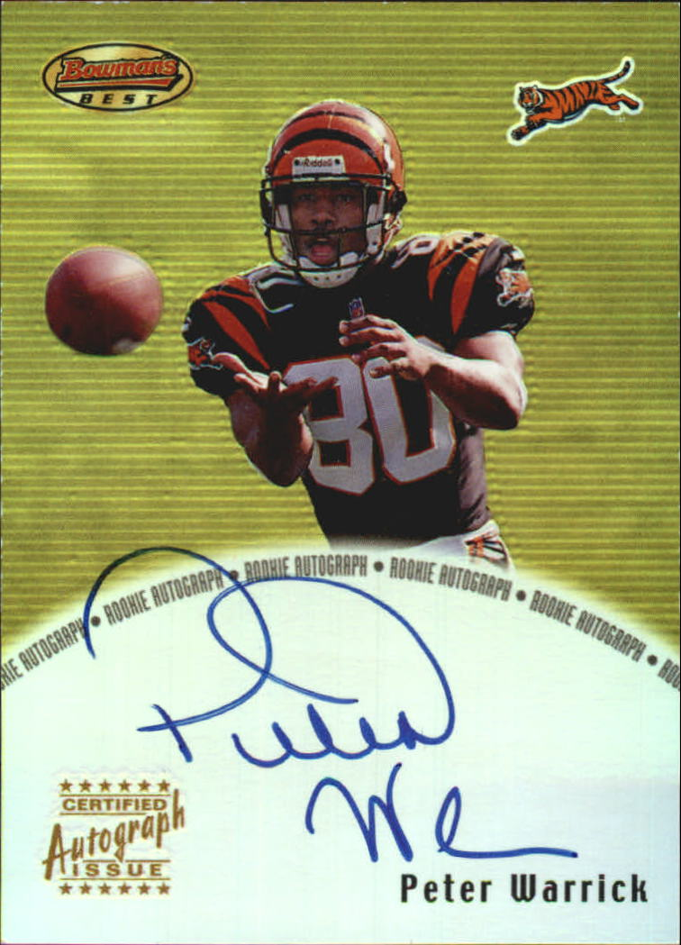 2000 Bowman's Best Autographs #BBPW Peter Warrick
