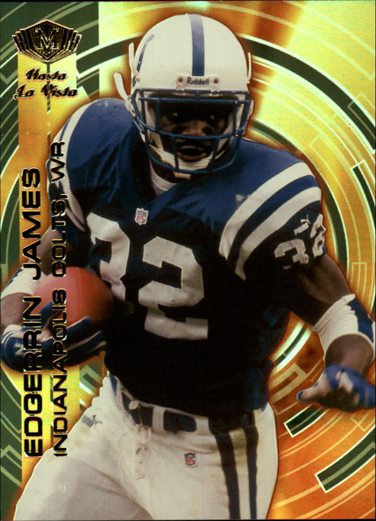 2000 Collector's Edge Masters Hasta La Vista #H7 Edgerrin James