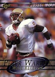 2000 Collector's Edge Supreme Perfect Ten #1 Peter Warrick