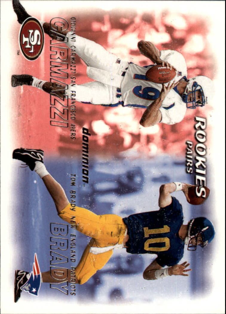 2000 SkyBox Dominion #234 Tom Brady RC/Giovanni Carmazzi RC