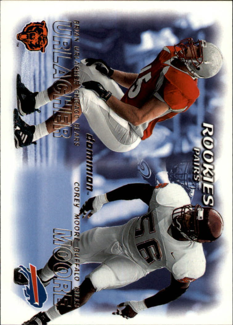 2000 SkyBox Dominion #242 B.Urlacher RC/C.Moore RC