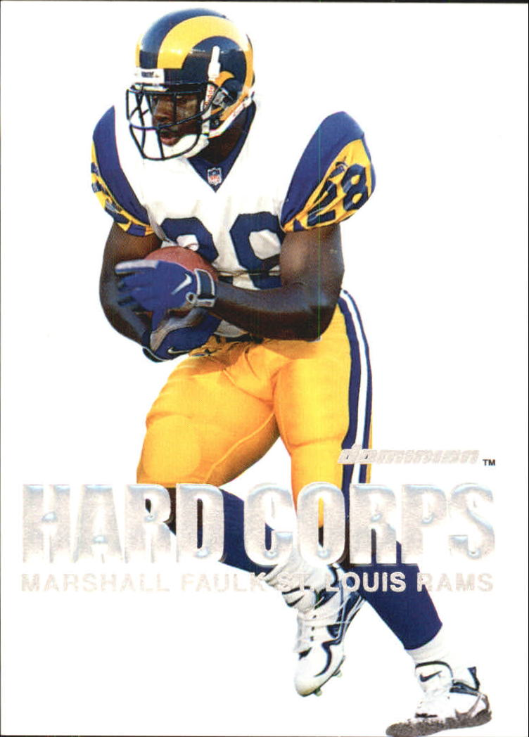 2000 SkyBox Dominion Hard Corps #5 Marshall Faulk