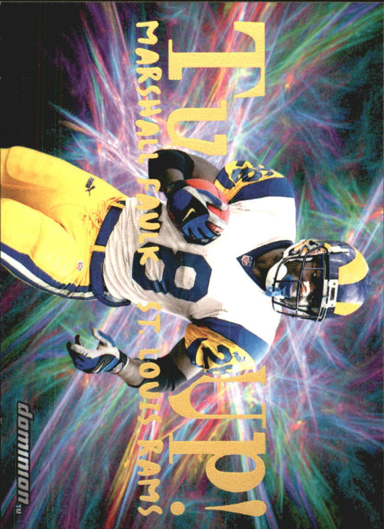 2000 SkyBox Dominion Turfs Up #4 Marshall Faulk