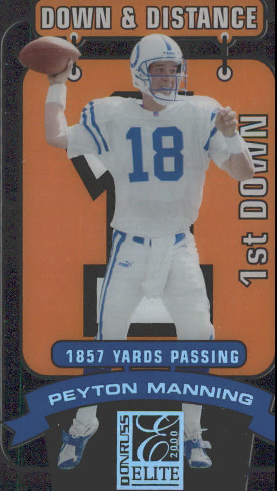 2000 Donruss Elite Down and Distance #4D1 Peyton Manning/1857