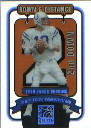 2000 Donruss Elite Down and Distance #4D2 Peyton Manning/1219