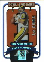 2000 Donruss Elite Down and Distance #10D1 Kurt Warner/1682