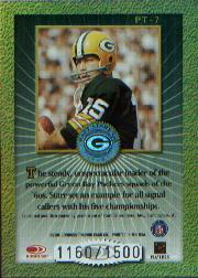 2000 Donruss Elite Passing the Torch #PT7 Bart Starr back image