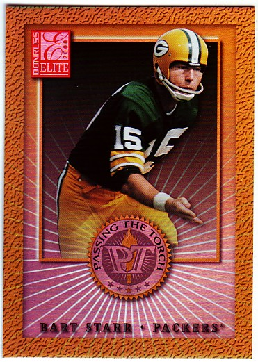 2000 Donruss Elite Passing the Torch #PT7 Bart Starr front image
