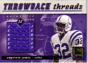 2000 Donruss Elite Throwback Threads #TT8 Edgerrin James
