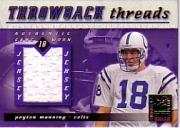 2000 Donruss Elite Throwback Threads #TT10 Peyton Manning