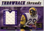 2000 Donruss Elite Throwback Threads #TT34 Eric Dickerson/Edgerrin James