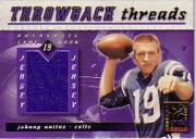 2000 Donruss Elite Throwback Threads #TT35 Johnny Unitas/Peyton Manning