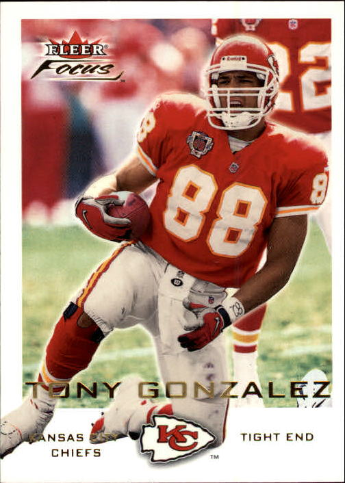 2000 Fleer Focus #55 Tony Gonzalez