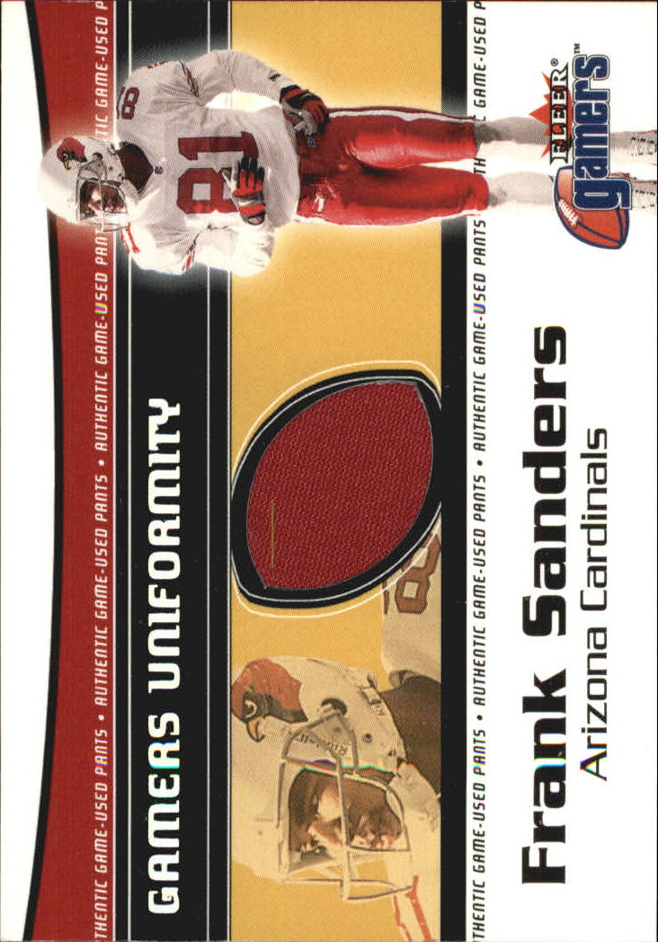 2000 Fleer Gamers Uniformity #30 Frank Sanders Pants