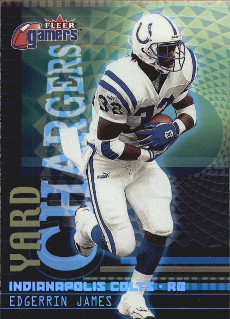 2000 Fleer Gamers Yard Chargers #9 Edgerrin James