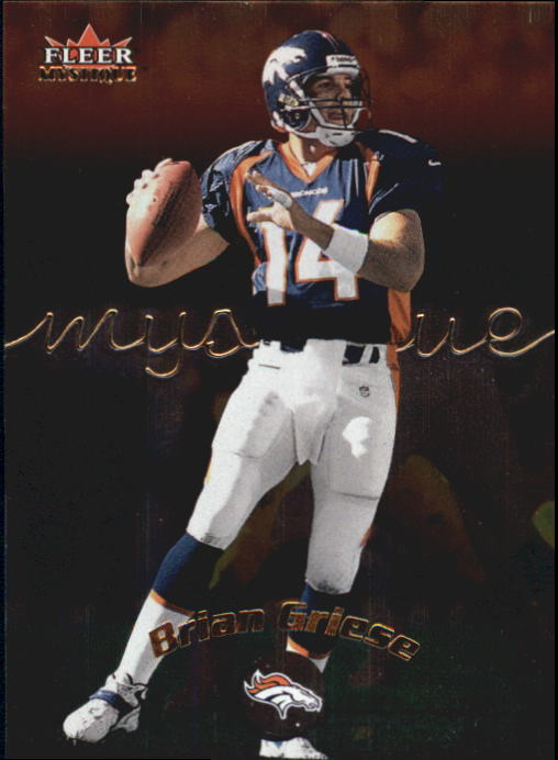 2000 Fleer Mystique #72 Brian Griese