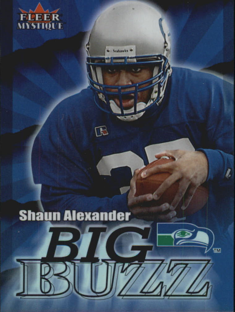 2000 Fleer Mystique Big Buzz #2 Shaun Alexander