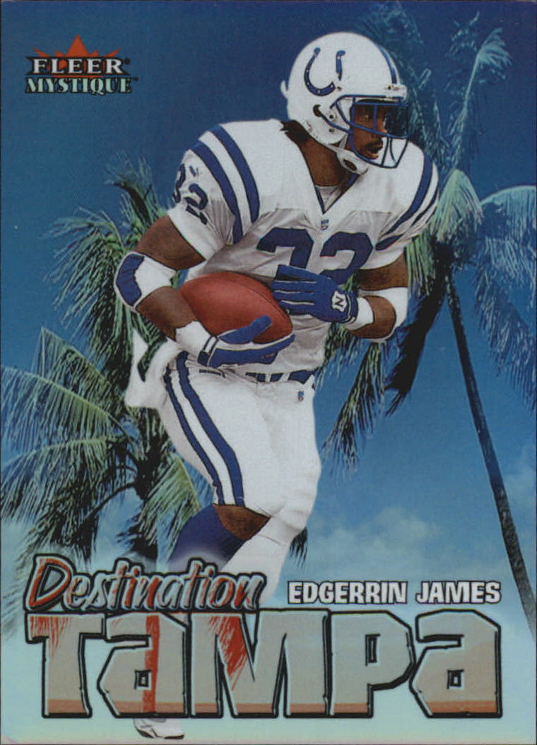 2000 Fleer Mystique Destination Tampa #8 Edgerrin James