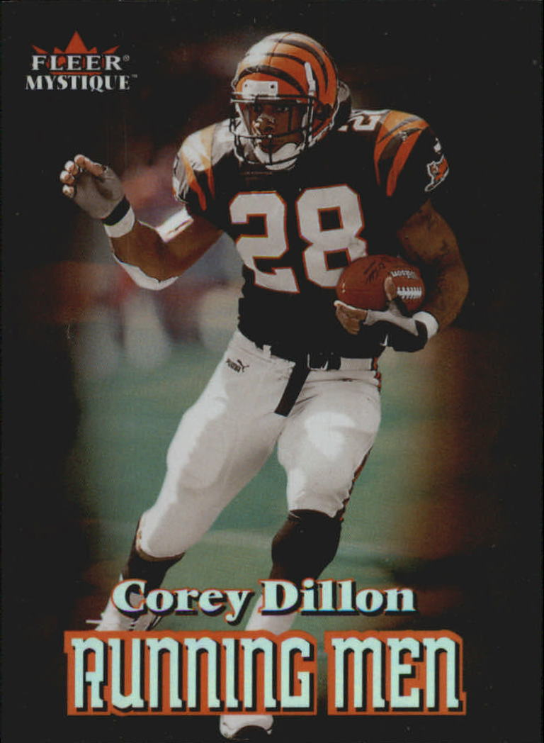 2000 Fleer Mystique Running Men #2 Corey Dillon
