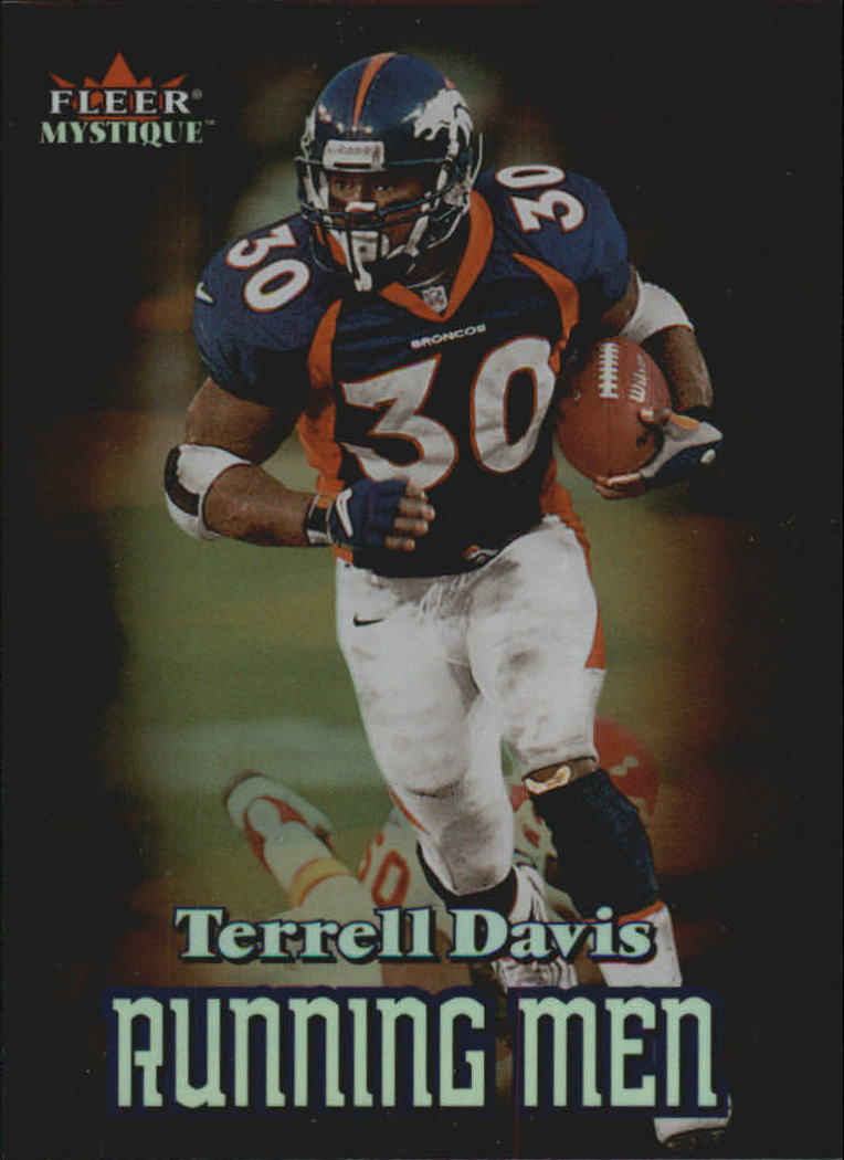 2000 Fleer Mystique Running Men #3 Terrell Davis