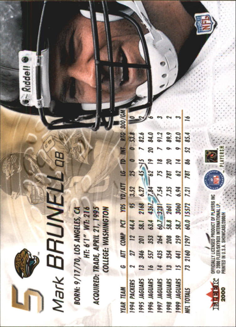 2000 Fleer Showcase #5 Mark Brunell back image
