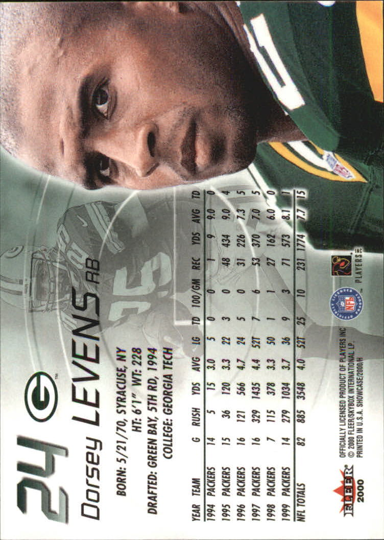2000 Fleer Showcase #24 Dorsey Levens