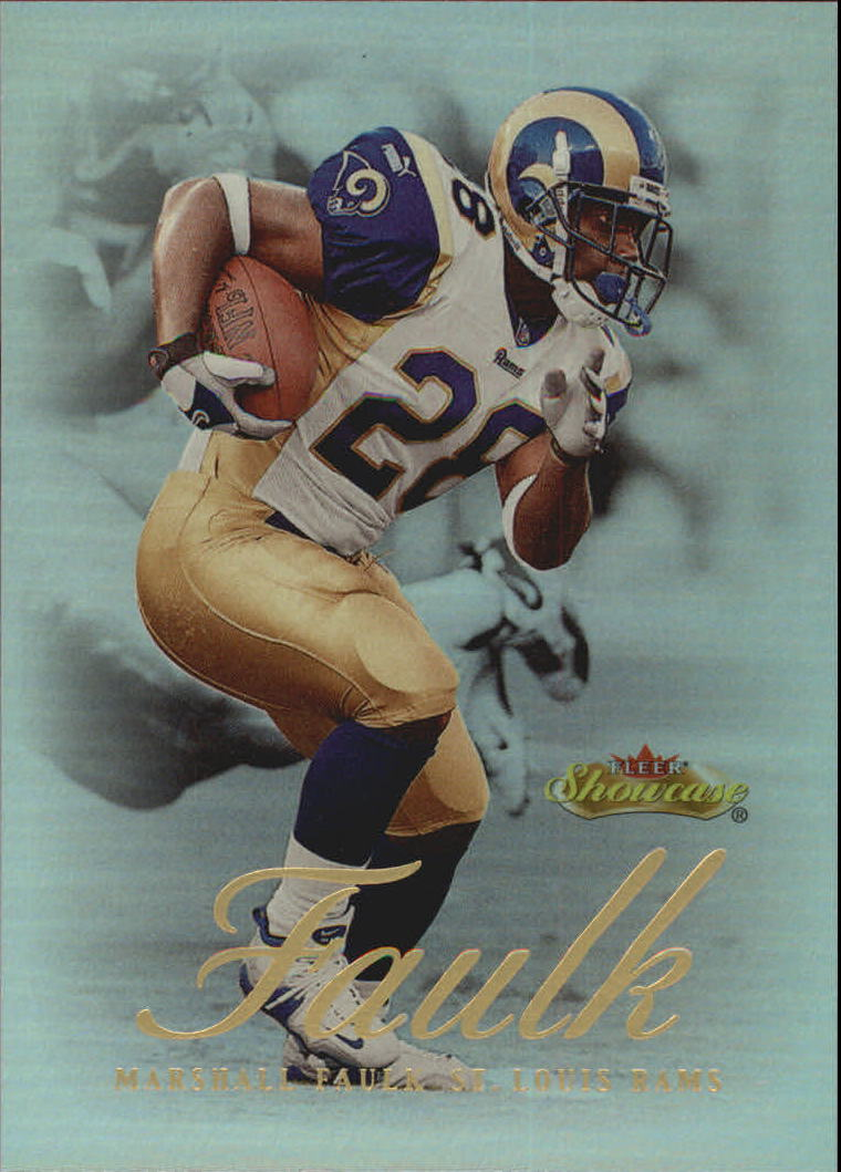 2000 Fleer Showcase #56 Marshall Faulk