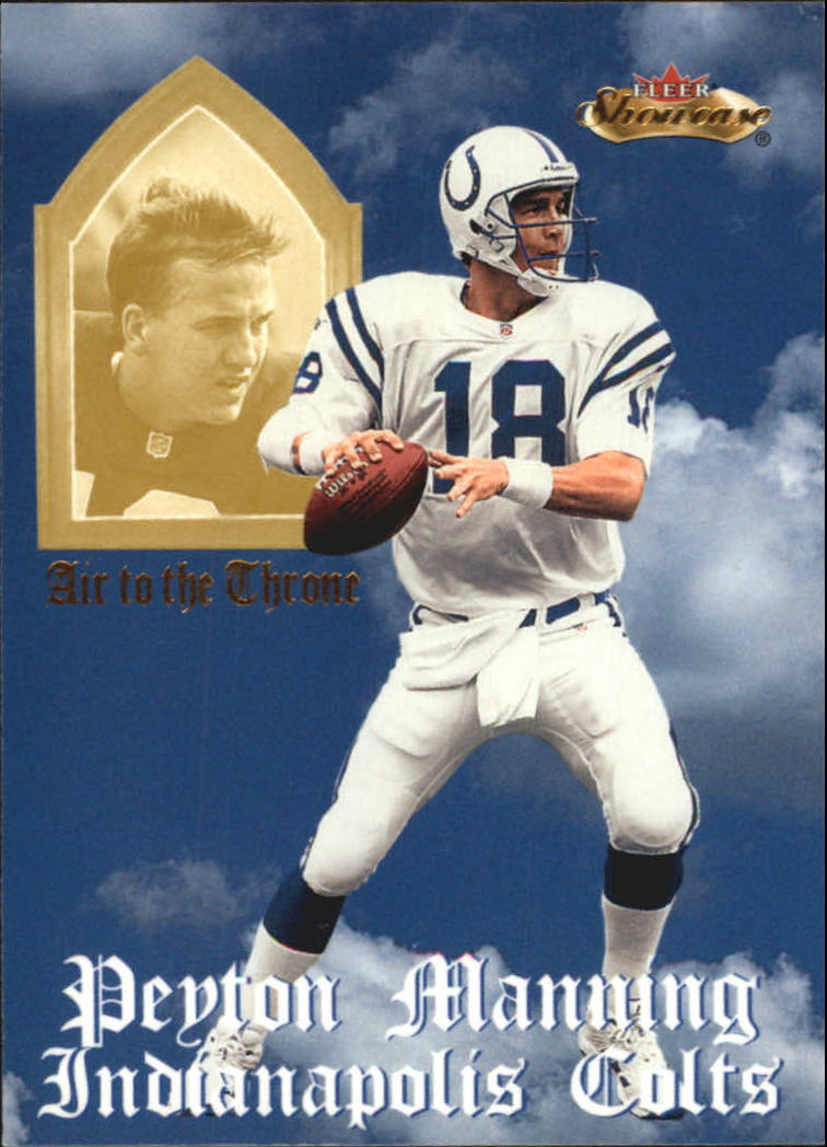 2000 Fleer Showcase Air to the Throne #1 Peyton Manning