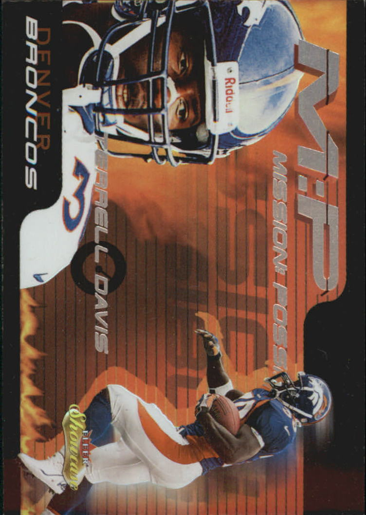 2000 Fleer Showcase Mission Possible #8 Terrell Davis