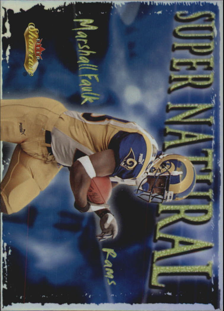 2000 Fleer Showcase Super Natural #2 Marshall Faulk