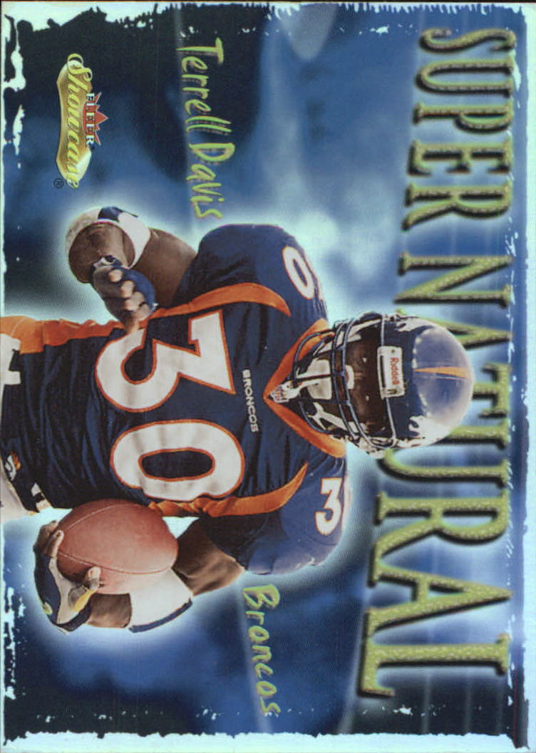 2000 Fleer Showcase Super Natural #4 Terrell Davis