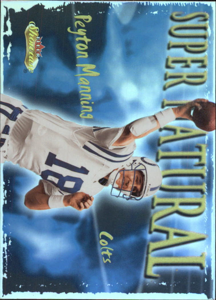 2000 Fleer Showcase Super Natural #7 Peyton Manning
