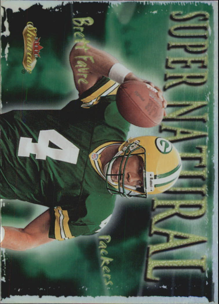 2000 Fleer Showcase Super Natural #8 Brett Favre