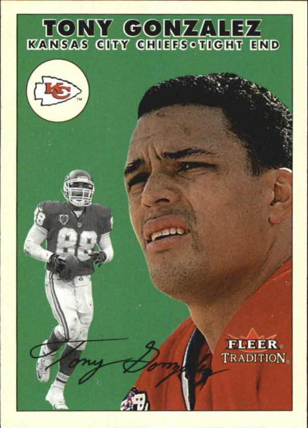 2000 Fleer Tradition #161 Tony Gonzalez