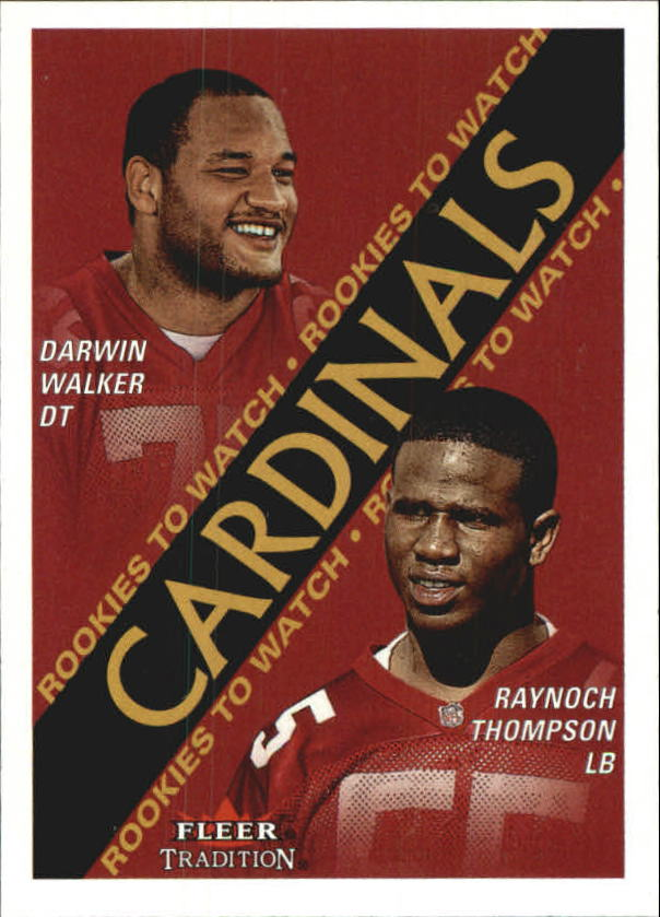 2000 Fleer Tradition #335 Darwin Walker RC/Raynoch Thompson RC