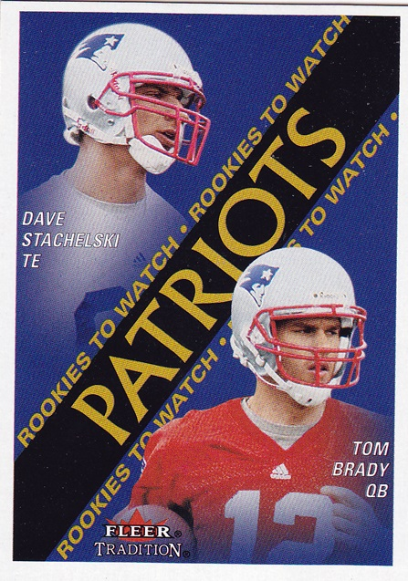 2000 Fleer Tradition #352 David Stachelski RC/Tom Brady RC