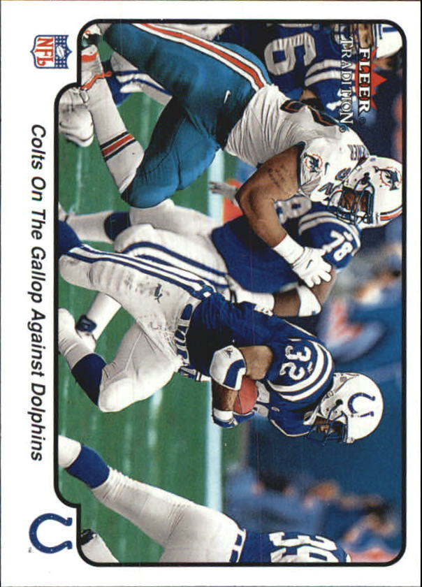 2000 Fleer Tradition #378 Indianapolis Colts IA/Edgerrin James