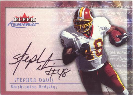 2000 Fleer Tradition Autographics #33 Stephen Davis