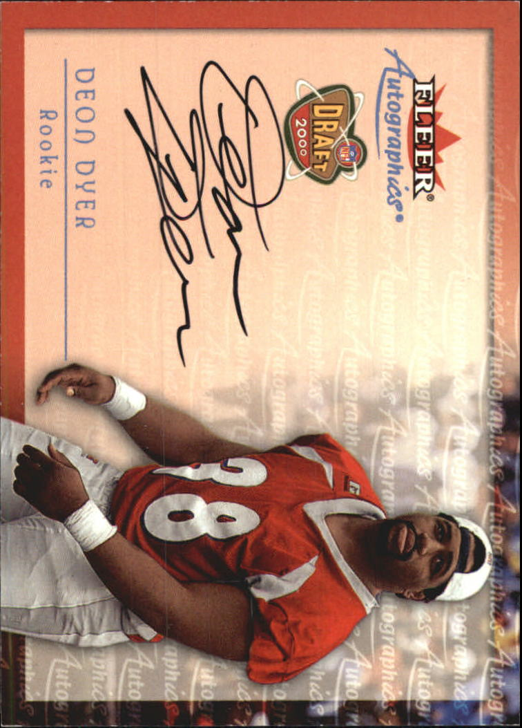 2000 Fleer Tradition Autographics #41 Deon Dyer