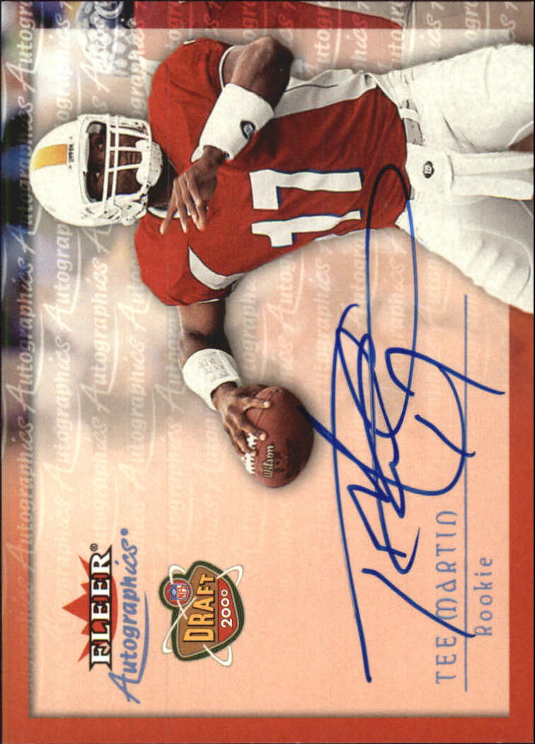 2000 Fleer Tradition Autographics #94 Tee Martin