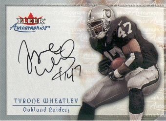 2000 Fleer Tradition Autographics #154 Tyrone Wheatley