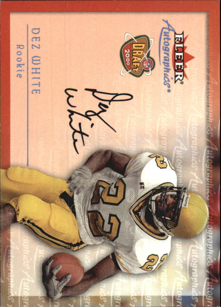 2000 Fleer Tradition Autographics #155 Dez White