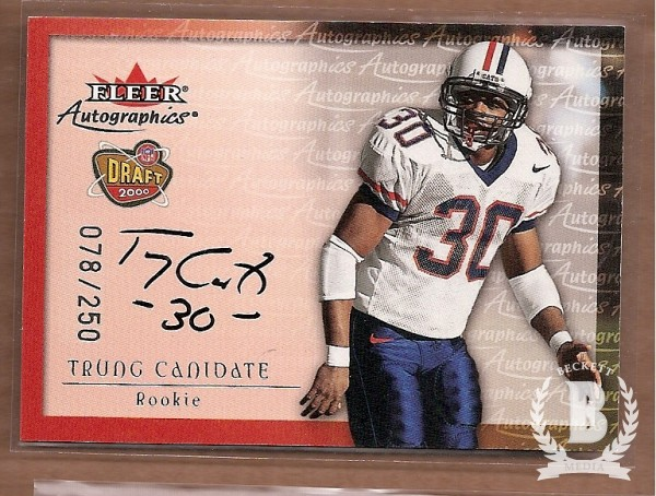 2000 Fleer Tradition Autographics Silver #22 Trung Canidate