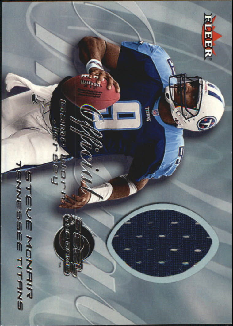 2000 Fleer Tradition Feel the Game #43 Steve McNair Blue