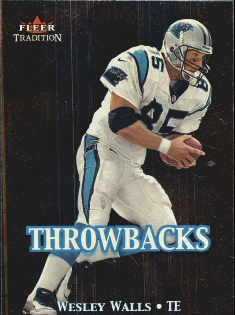 2000 Fleer Tradition Throwbacks #5 Wesley Walls