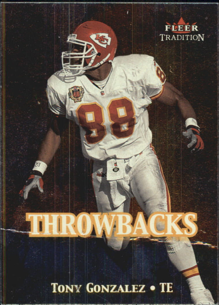 2000 Fleer Tradition Throwbacks #18 Tony Gonzalez