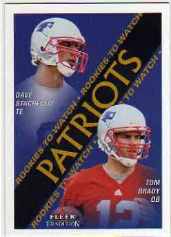 2000 Fleer Tradition Glossy #352 David Stachelski/Tom Brady